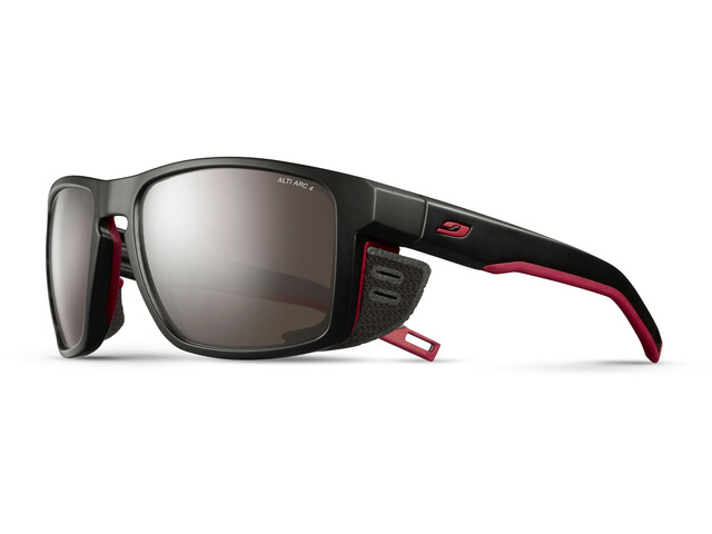 Julbo Shield Alti Arc 4 Sunglasses Black/Red/Red-Brown Flash Silver